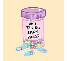 Crazy Pills Zoolander sprinkles weird pills tumblr meme print Photographic Print