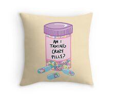 Crazy Pills Zoolander sprinkles weird pills tumblr meme print Throw Pillow