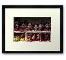 Ladies in Waiting Framed Print