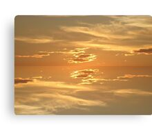 Sunset Golden 2 Canvas Print