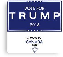 Trump Canada Shirt Canvas Print
