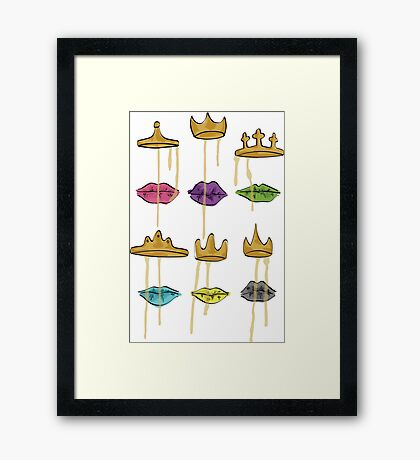 Dripping Crown (All Lips) Framed Print