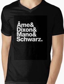 Ame & Dixon & Mano & Schwarz. Mens V-Neck T-Shirt