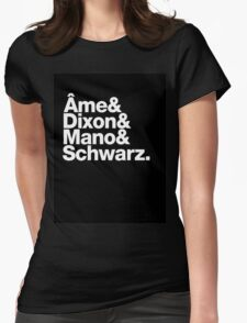 Ame & Dixon & Mano & Schwarz. Womens Fitted T-Shirt