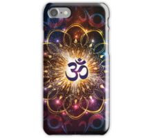 """The higher power of Om"" - sacred geometry iPhone Case/Skin"