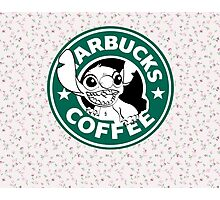 Stitch Floral Coffee Photographic Print