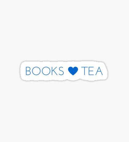 Books Tea (All Blue) Sticker