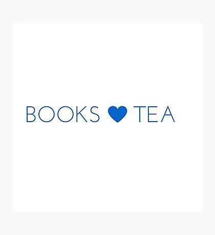 Books Tea (All Blue) Photographic Print