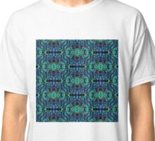 Blue & Green Matrix Web Classic T-Shirt