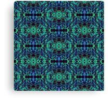 Blue & Green Matrix Web Canvas Print