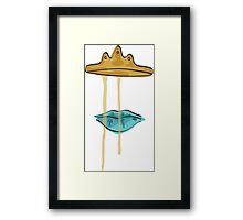 Dripping Crown (Blue Lips) Framed Print