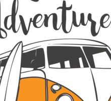 Lets be adventurers Sticker