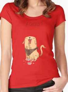 food? Women's Fitted Scoop T-Shirt