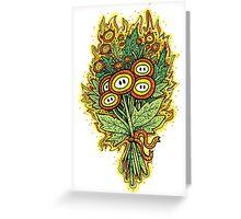 Fire Flower Bouquet Greeting Card