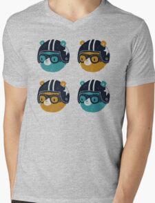 racer bear Mens V-Neck T-Shirt