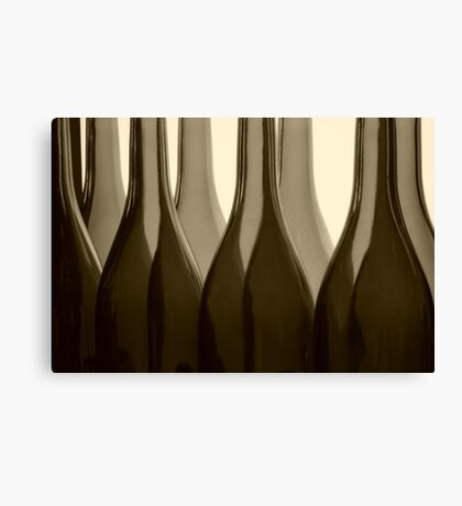 Wine Bottles in Sepia Canvas Print