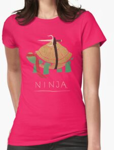 ninja - red Womens Fitted T-Shirt