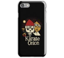 the karate onion iPhone Case/Skin