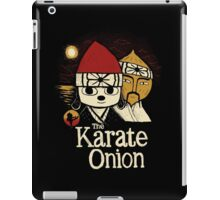 the karate onion iPad Case/Skin