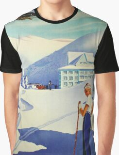 to Czechoslovakia In winter Vintage Czech Ski sport poster Graphic T-Shirt