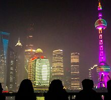 Silhouettes in Shanghai by Timothy Bennett
