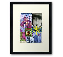 A collage  Framed Print