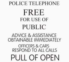 Police Telephone Pull To Open by IncidentTheEnd