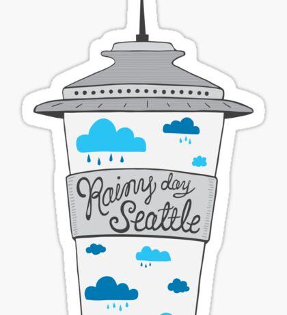 Rainy Day Seattle Sticker