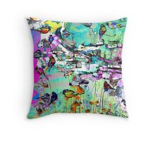 lykkelige gaten Throw Pillow
