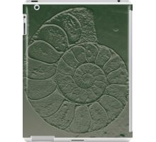 Ammonite Fossil Dark Grey Green iPad Case/Skin
