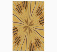 Yellow and Ochre Flower Pattern Abstract 2 Kids Clothes