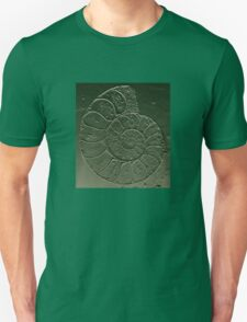 Ammonite Fossil Dark Grey Green T-Shirt