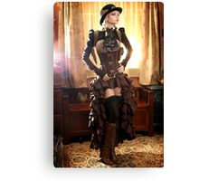 Office SteamGirl Canvas Print