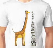 Who is Taller Unicorn Giraffe or Penguin? Unisex T-Shirt