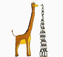 Who is Taller Unicorn Giraffe or Penguin? T-Shirt