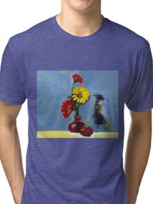 Flowers in Vase Tri-blend T-Shirt
