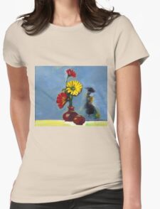 Flowers in Vase Womens Fitted T-Shirt