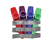 I May be Crazy but at Least I'm Medicated - Louden Swain Lyric Photographic Print