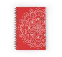 Negative Red Mandala Spiral Notebook