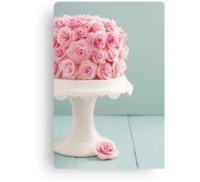 Cake with sugar roses Canvas Print