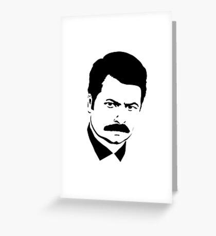 Ron Swanson Greeting Card