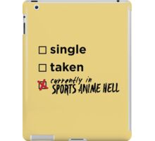 Currently in Sports Anime Hell iPad Case/Skin