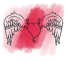 Cupid's Heart Photographic Print
