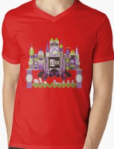 Is This Small World Actually Stretching? (for Darker Rides) Mens V-Neck T-Shirt