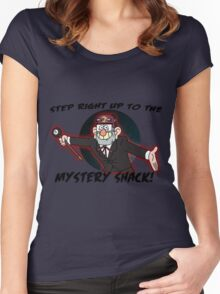 Step right up to the mystery shack Women's Fitted Scoop T-Shirt
