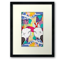 kaws paws 2 mickey   Framed Print