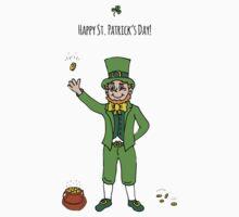 Leprechaun, Happy St. Patrick's Day! Kids Tee