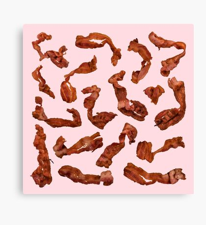 Bacon, Fried Canvas Print