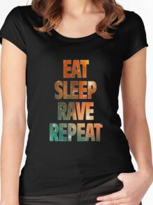 EAT SLEEP RAVE REPEAT Women's Fitted Scoop T-Shirt