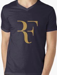 Roger Federer gold Mens V-Neck T-Shirt
